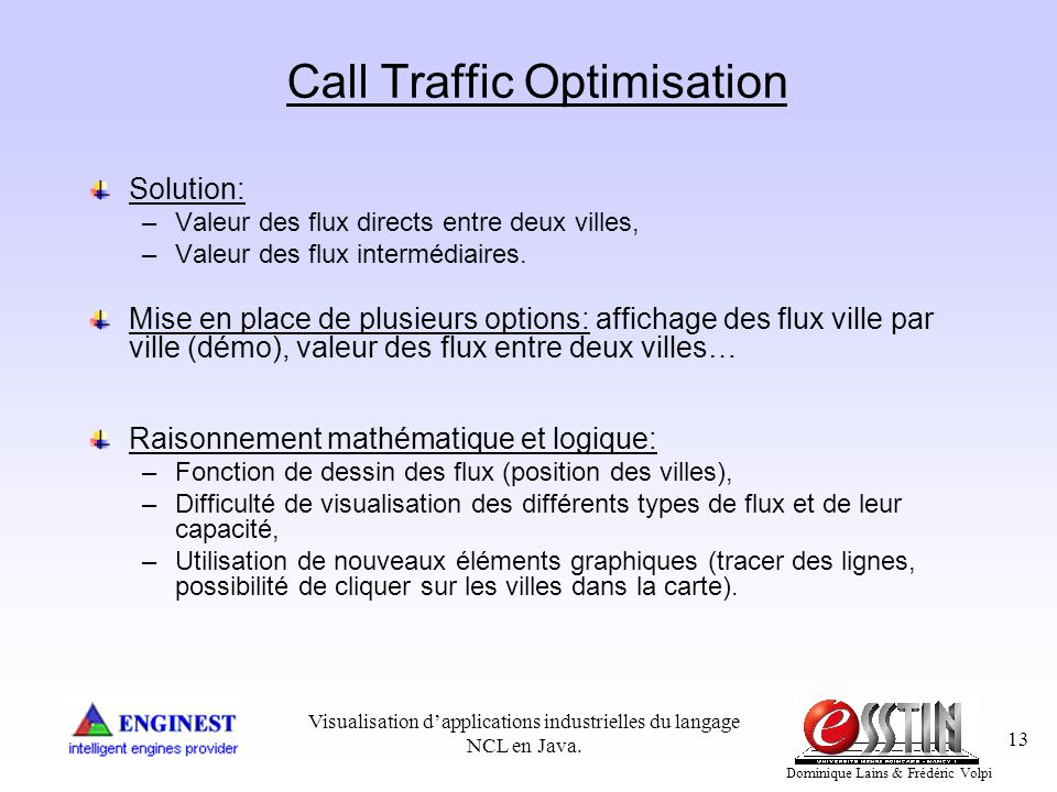 Call Traffic Optimisation