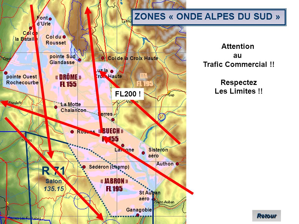 R 71 ZONES « ONDE ALPES DU SUD » Attention au Trafic Commercial !!