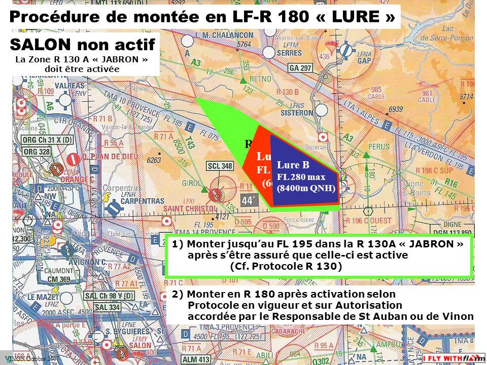 Procédure de montée en LF-R 180 « LURE »