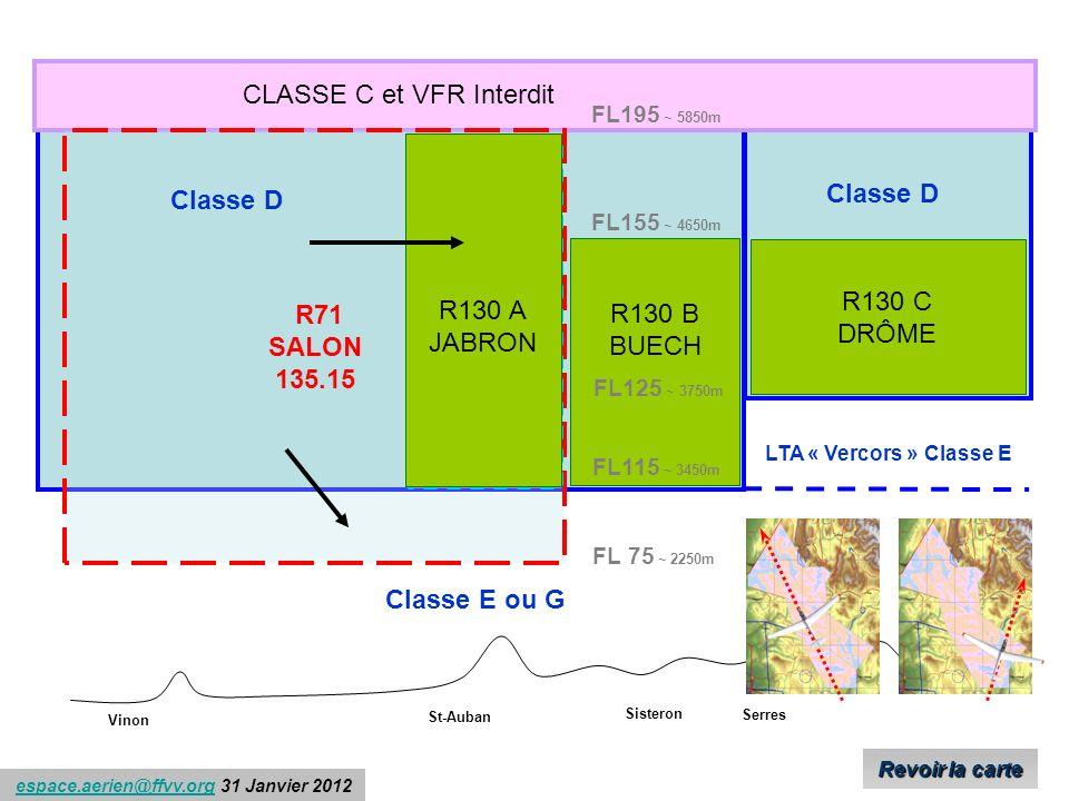 CLASSE C et VFR Interdit