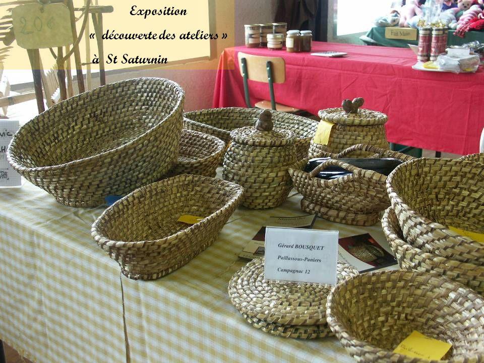 Exposition « découverte des ateliers » à St Saturnin