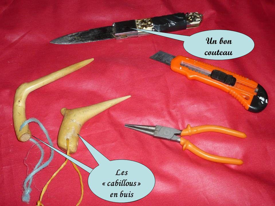 Un bon couteau Les « cabillous » en buis