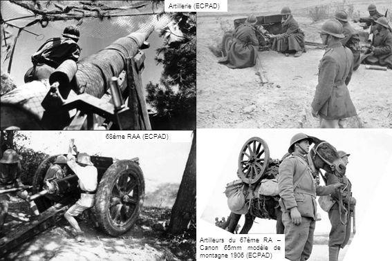 Artillerie (ECPAD) 68ème RAA (ECPAD) Artilleurs du 67ème RA – Canon 65mm modèle de montagne 1906 (ECPAD)