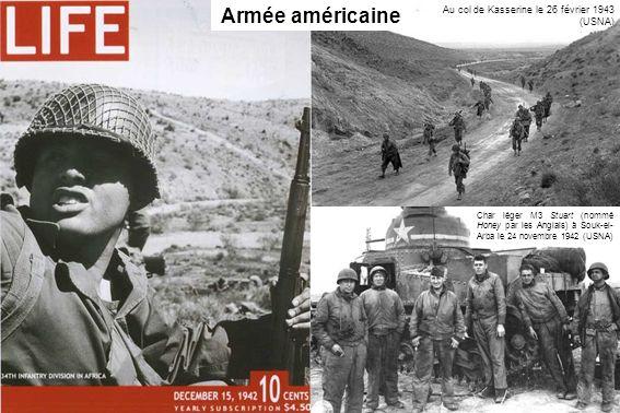 Armée américaine Au col de Kasserine le 26 février 1943 (USNA)