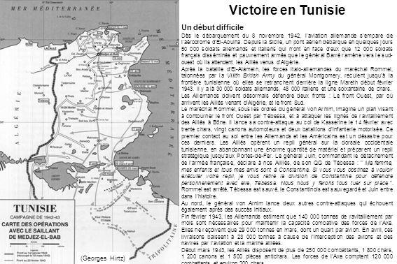 Victoire en Tunisie Un début difficile (Georges Hirtz)