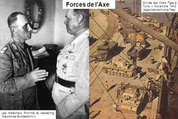 Forces de l'Axe Arrivée des chars Tigre à Tunis – Novembre 1942 (algeroisementvotre.free)