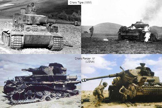 Chars Tigre (IWM) Chars Panzer IV (USNA)