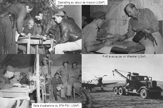 Debriefing au retour de mission (USAF)