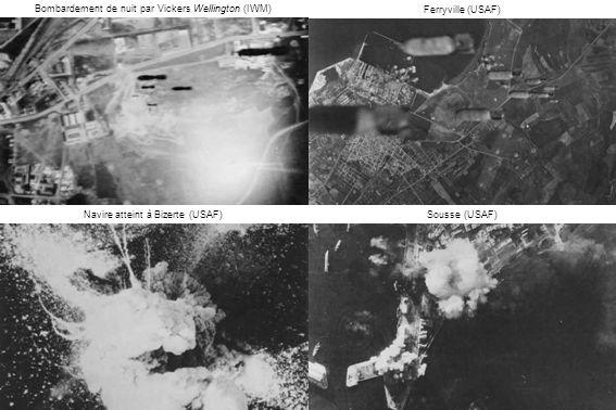 Bombardement de nuit par Vickers Wellington (IWM) Ferryville (USAF)