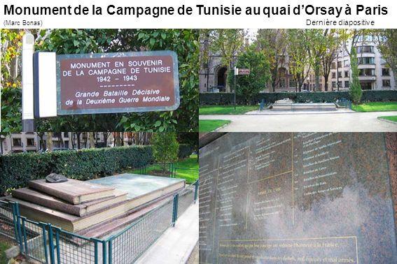 Monument de la Campagne de Tunisie au quai d'Orsay à Paris
