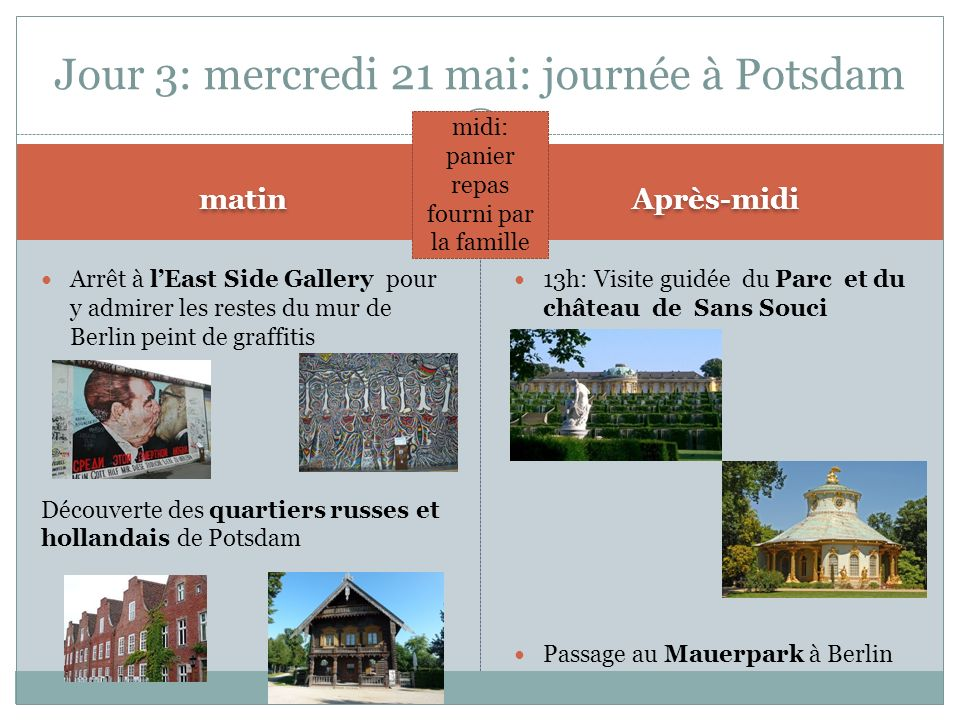 Jour 3: mercredi 21 mai: journée à Potsdam