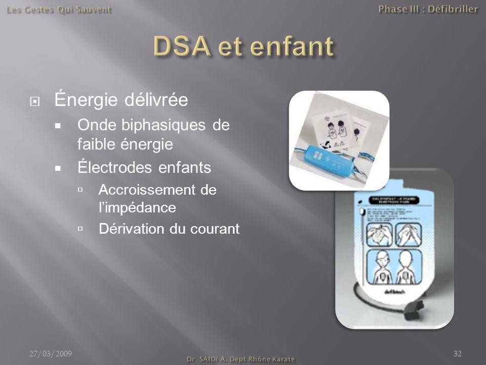 Phase III : Défibriller Dr SAIDI A. Dept Rhône Karaté