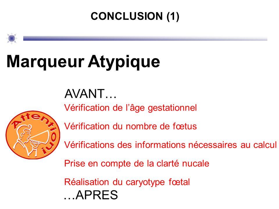 Marqueur Atypique AVANT… …APRES CONCLUSION (1)
