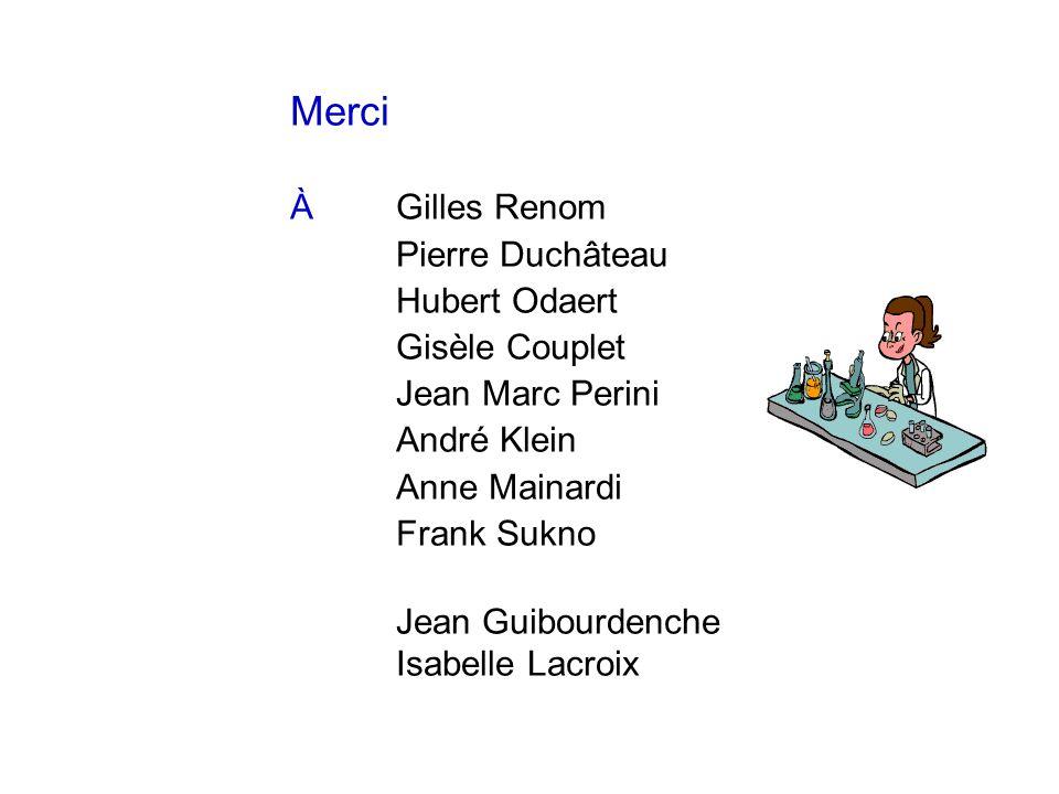 Merci À Gilles Renom Pierre Duchâteau Hubert Odaert Gisèle Couplet