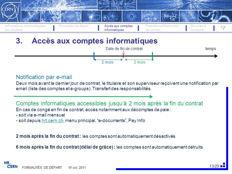 3. Accès aux comptes informatiques