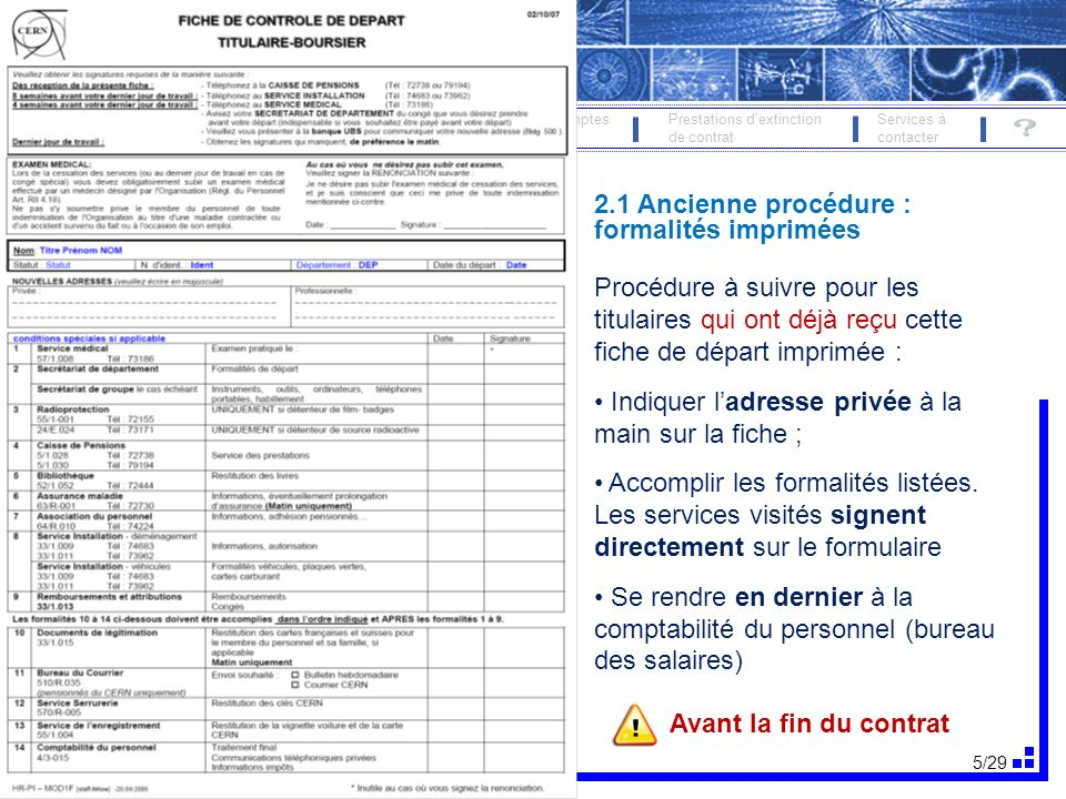 2.1 Ancienne procédure : formalités imprimées