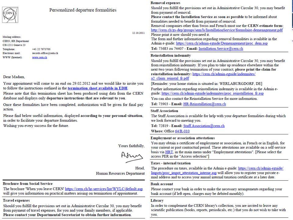 2. Formalités de départ : 2 procédures possibles