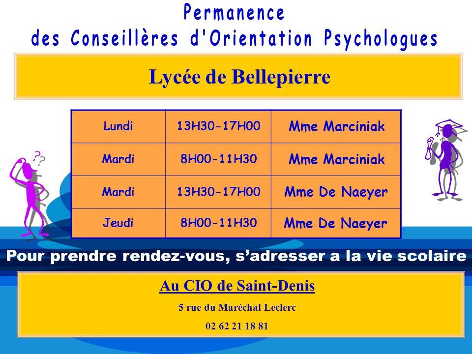 des Conseillères d Orientation Psychologues 5 rue du Maréchal Leclerc
