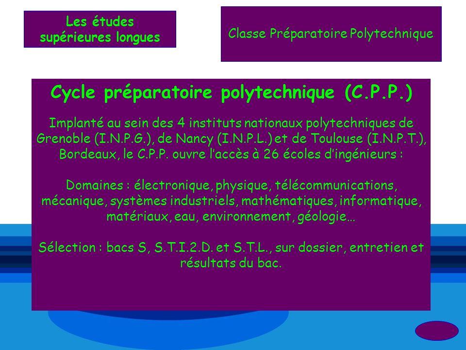 Cycle préparatoire polytechnique (C.P.P.)