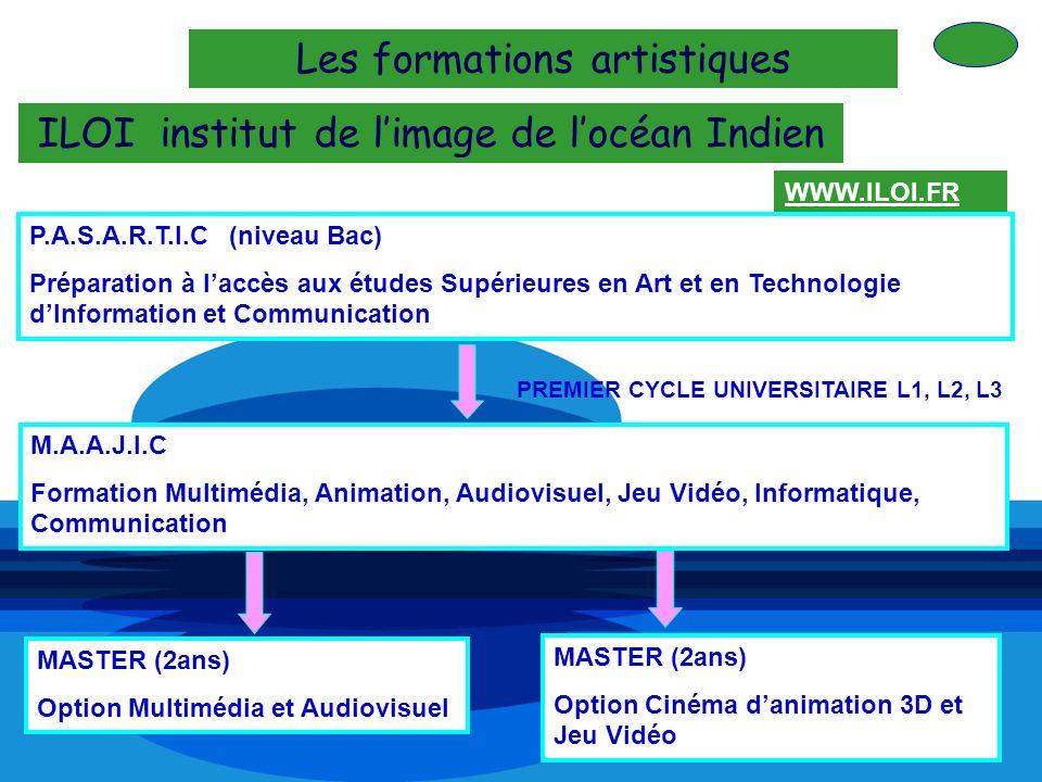 Les formations artistiques