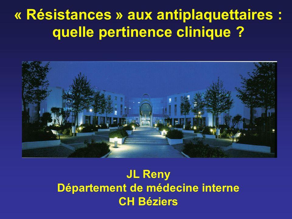 « Résistances » aux antiplaquettaires : quelle pertinence clinique