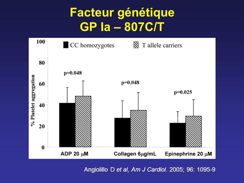 Facteur génétique GP Ia – 807C/T