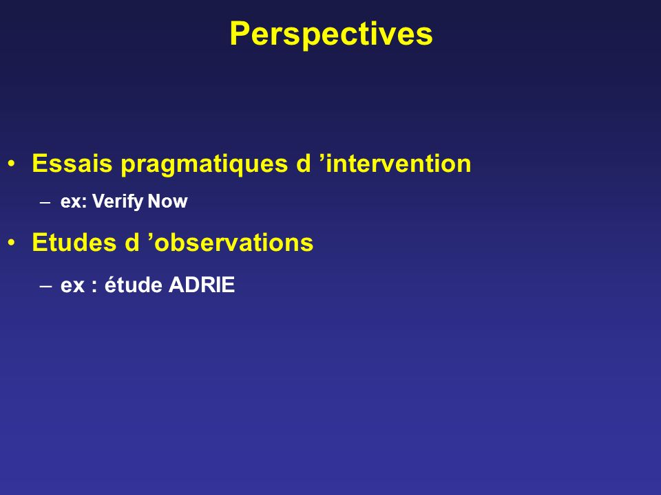 Perspectives Essais pragmatiques d 'intervention