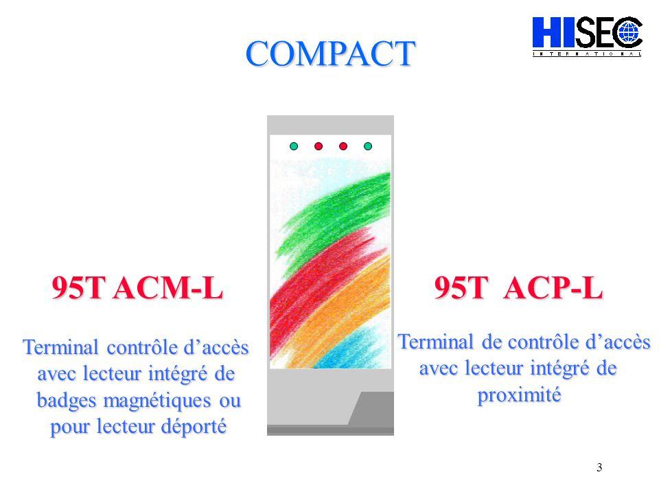 COMPACT 95T ACM-L 95T ACP-L Terminal de contrôle d'accès