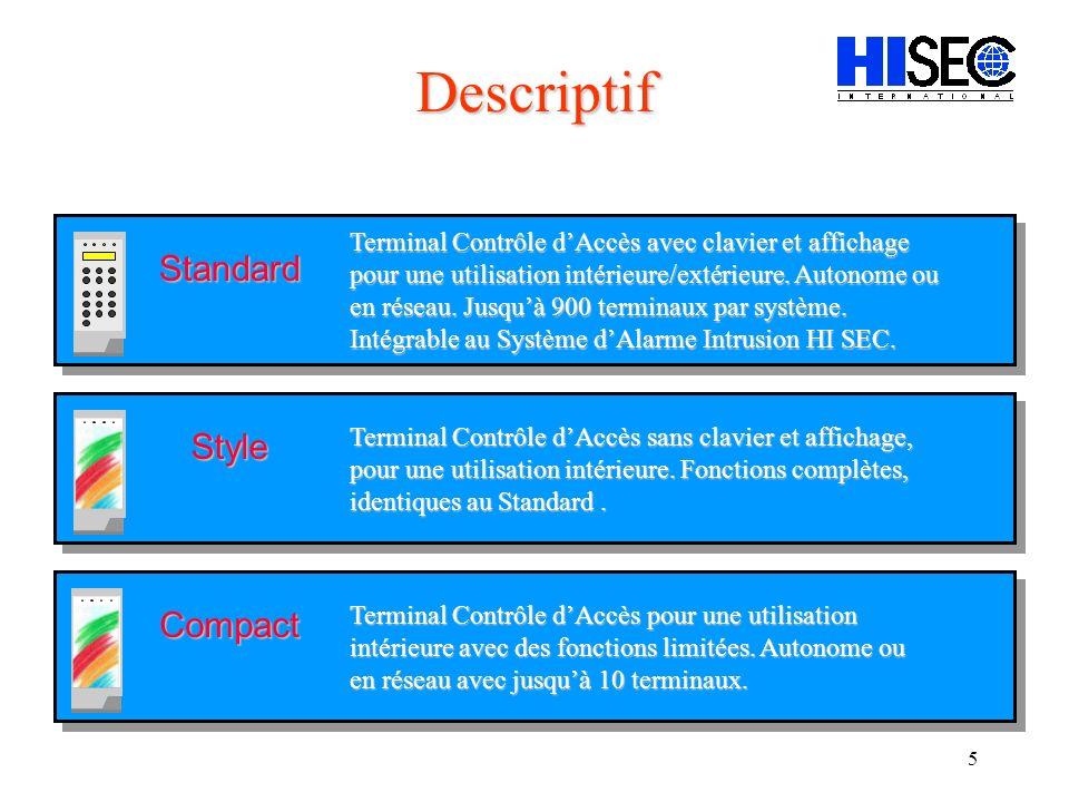 Descriptif Standard Style Compact