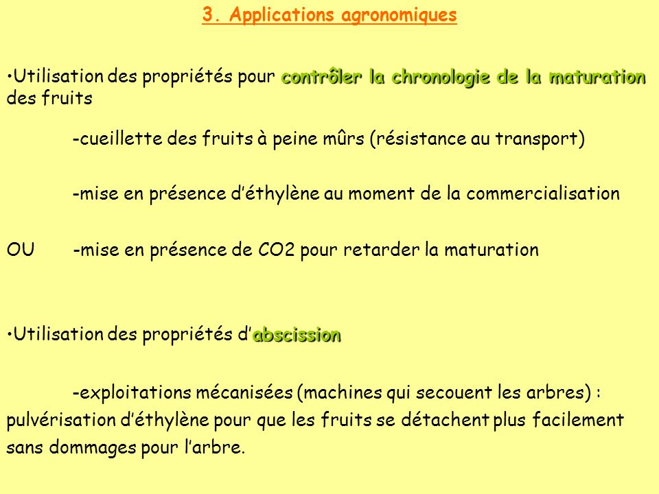 3. Applications agronomiques