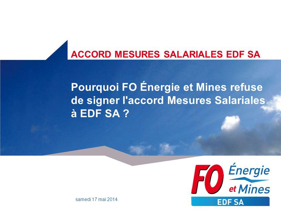 ACCORD MESURES SALARIALES EDF SA