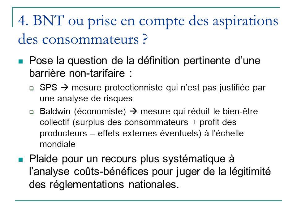 4. BNT ou prise en compte des aspirations des consommateurs