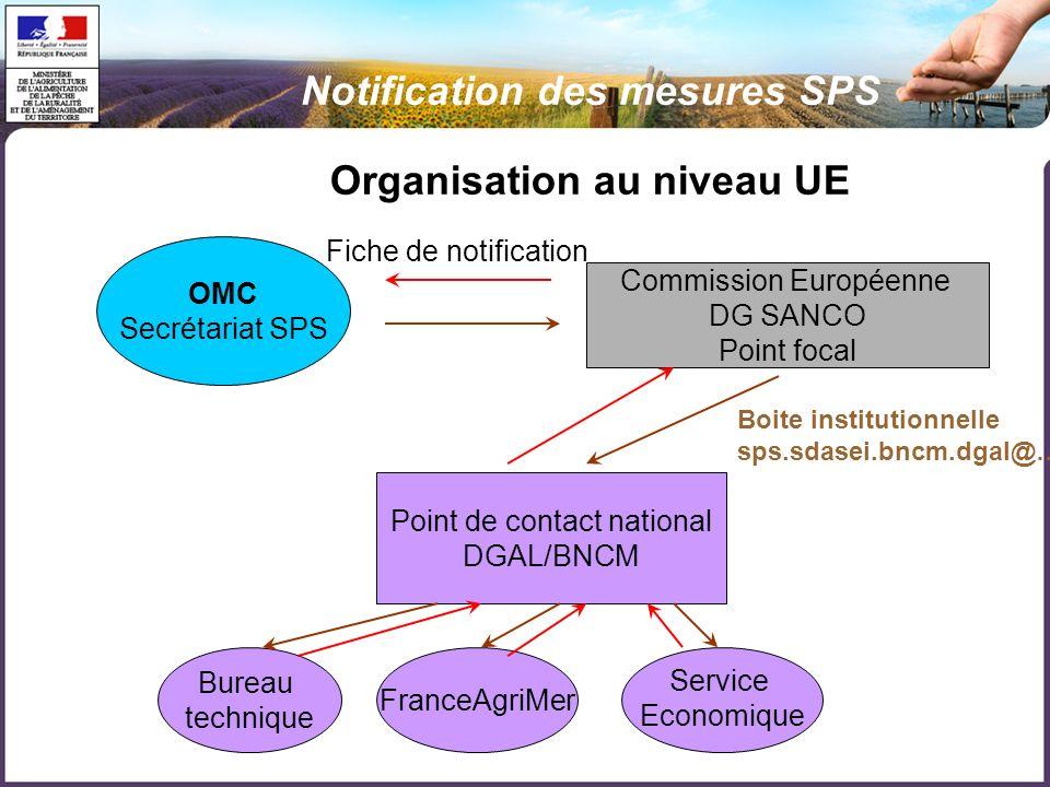 Organisation au niveau UE