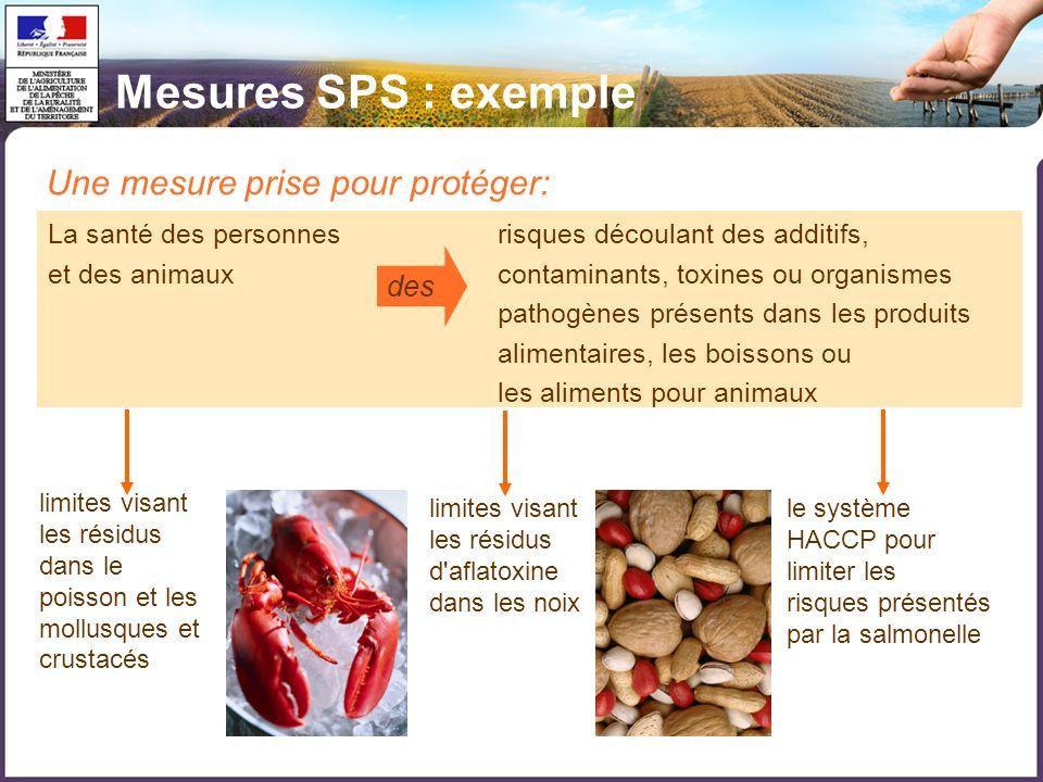 Mesures SPS : exemple Une mesure prise pour protéger: des