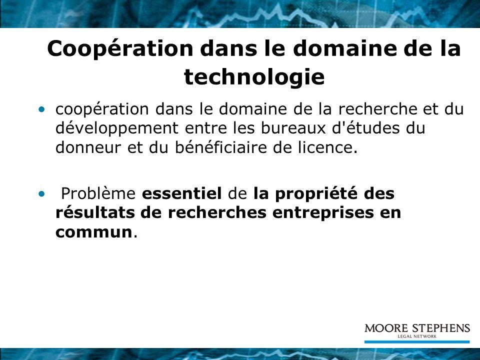 Coopération dans le domaine de la technologie