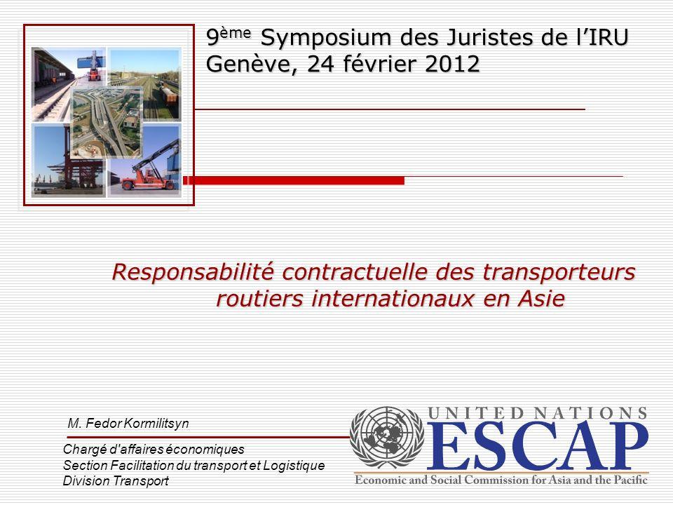 9ème Symposium des Juristes de l'IRU Genève, 24 février 2012
