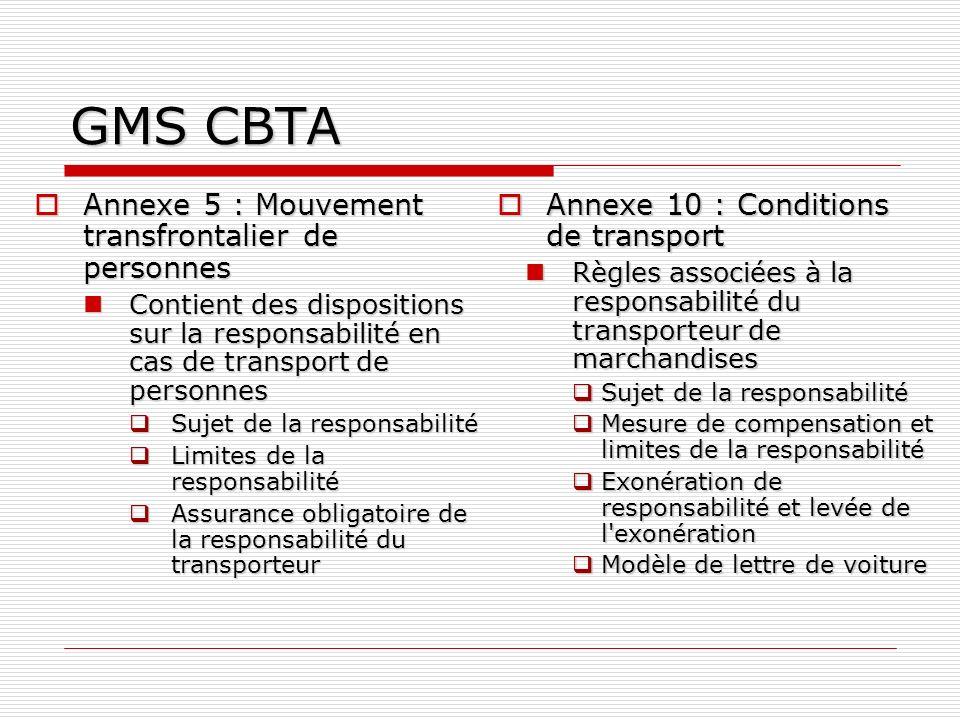 GMS CBTA Annexe 5 : Mouvement transfrontalier de personnes