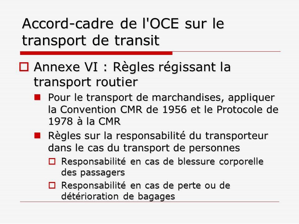 Accord-cadre de l OCE sur le transport de transit