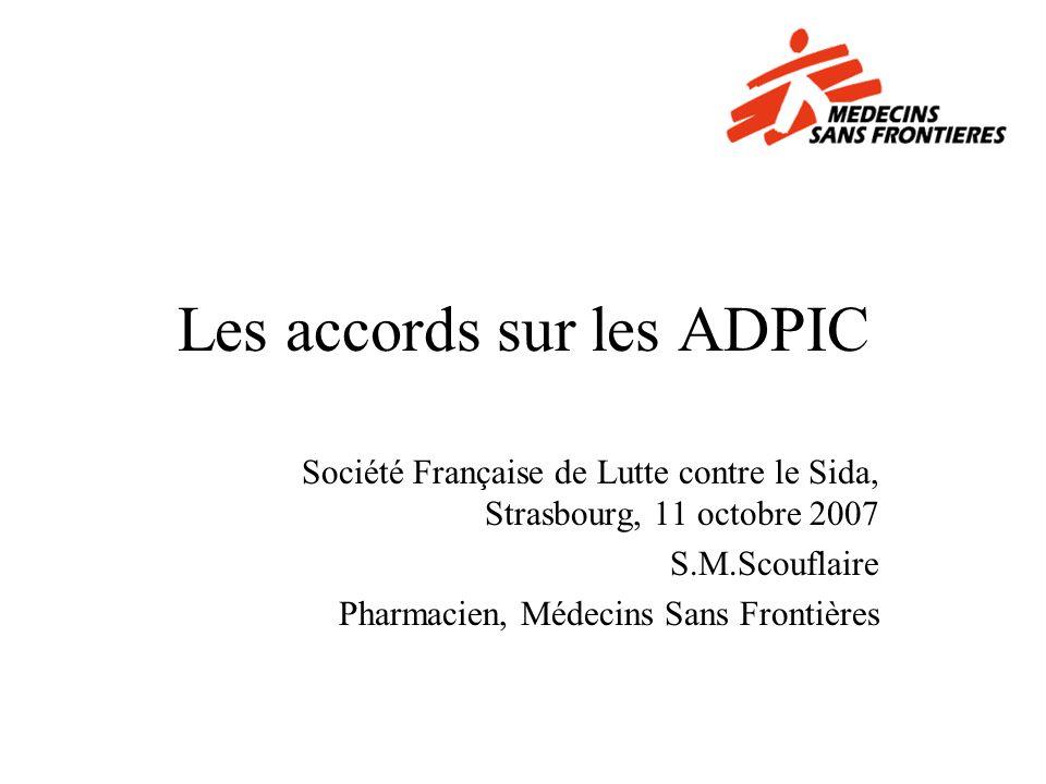Les accords sur les ADPIC