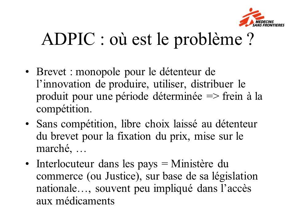 ADPIC : où est le problème