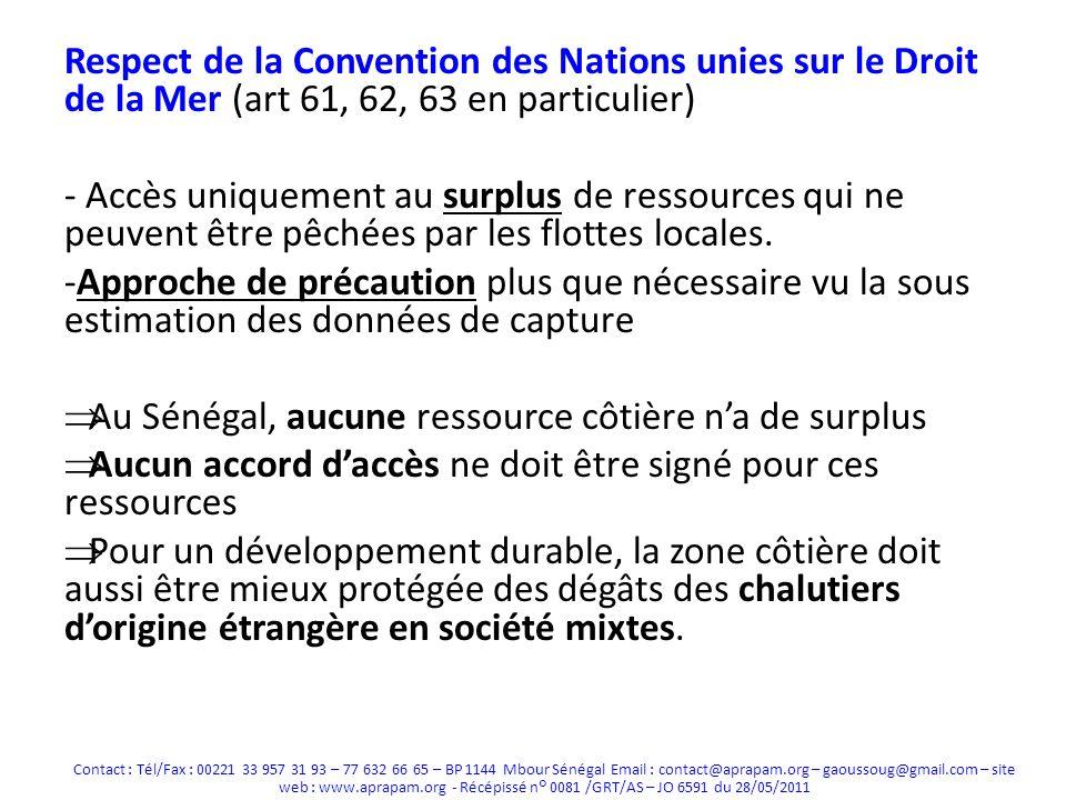 Au Sénégal, aucune ressource côtière n'a de surplus