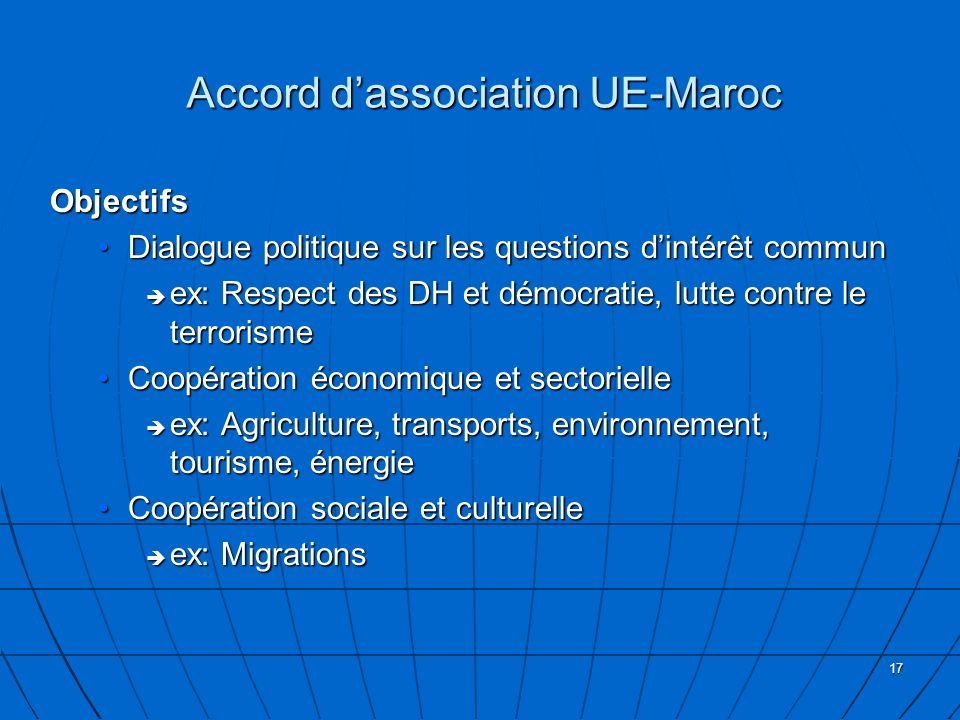 Accord d'association UE-Maroc