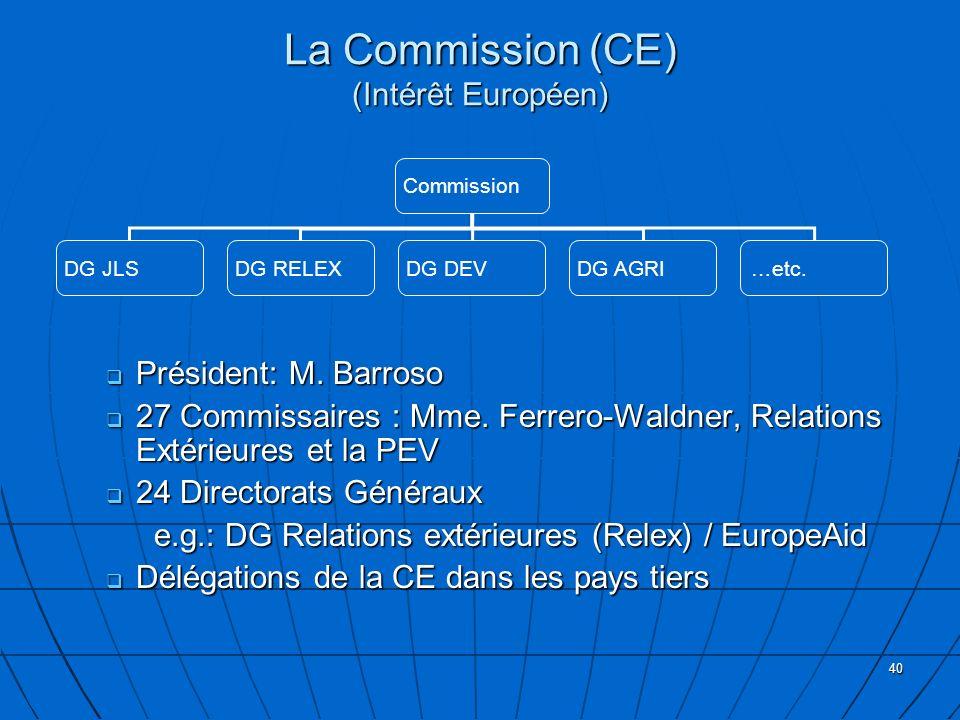La Commission (CE) (Intérêt Européen)