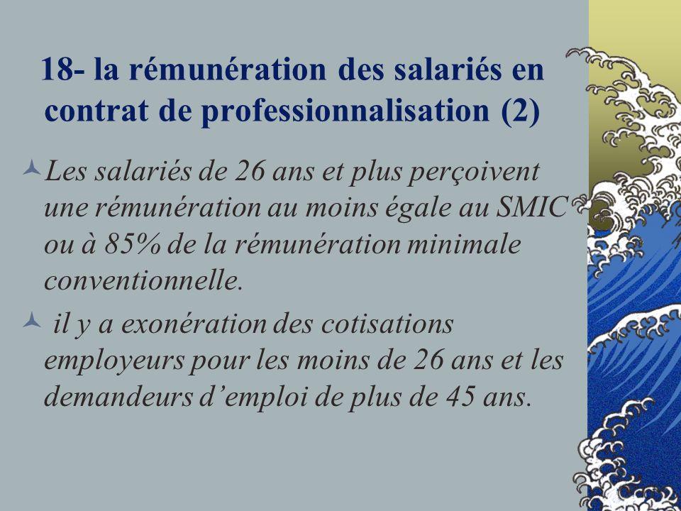 18- la rémunération des salariés en contrat de professionnalisation (2)