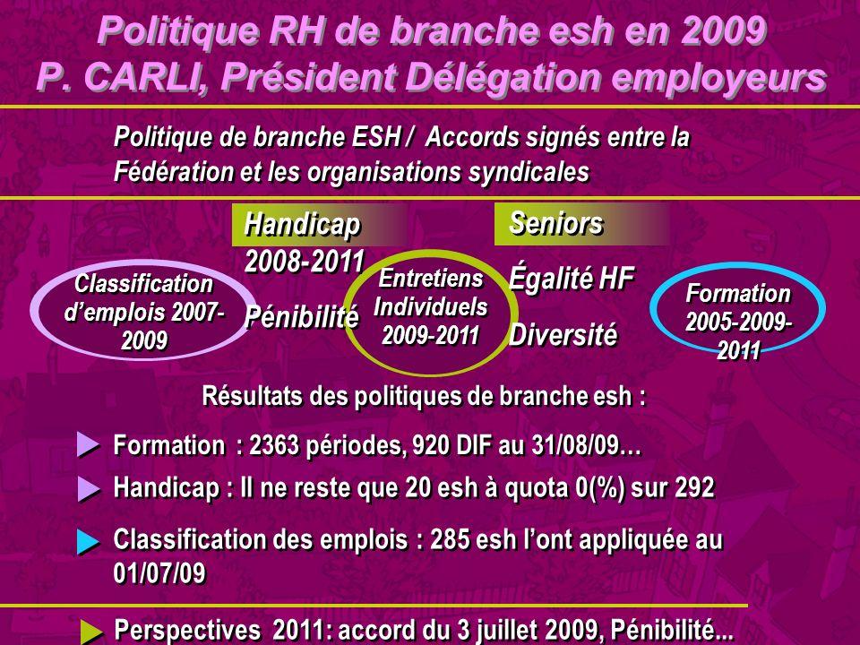 Entretiens Individuels 2009-2011 Classification d'emplois 2007-2009