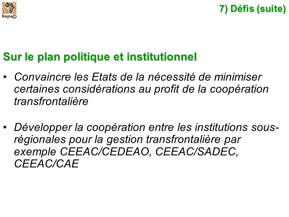 Sur le plan politique et institutionnel