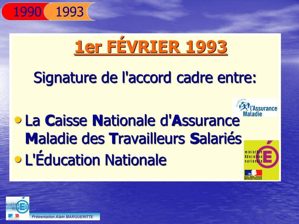Signature de l accord cadre entre: