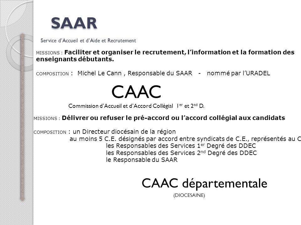SAAR Service d'Accueil et d'Aide et Recrutement
