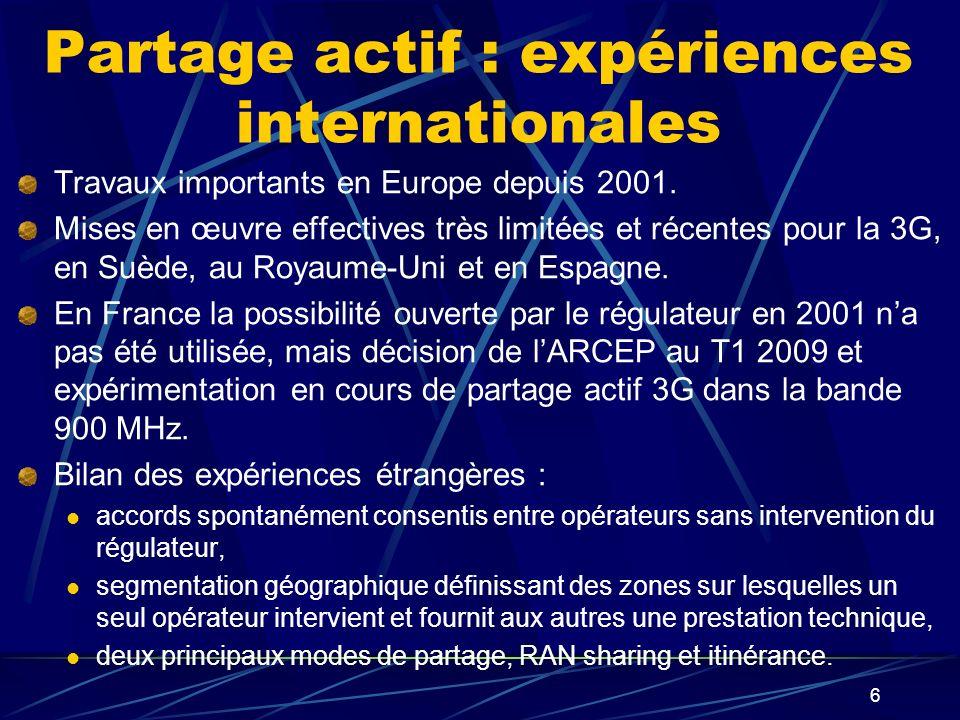 Partage actif : expériences internationales