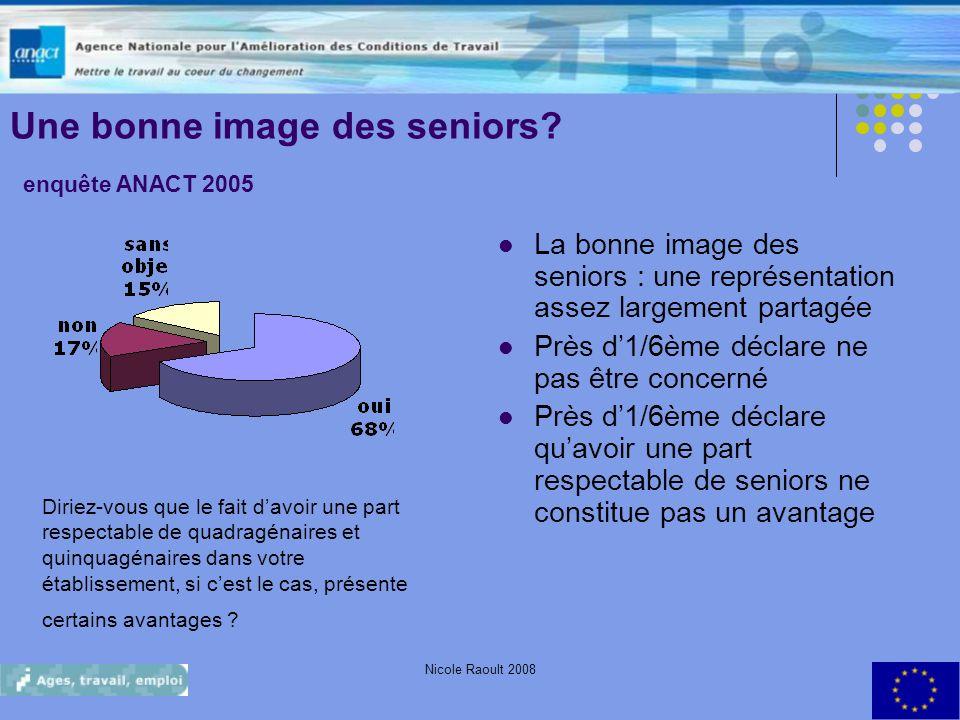 Une bonne image des seniors enquête ANACT 2005